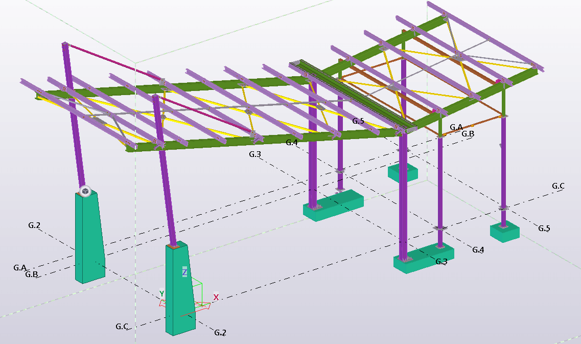 Urban Lifestyle Guard House Tekla Structures Steel Detailing Model by Columbus Detailing
